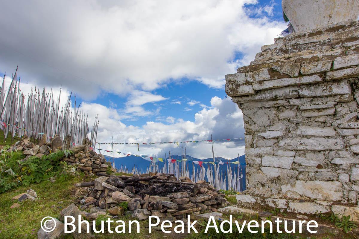 Old stupa along the way