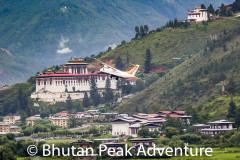 Drukair flight departing Paro to Bumthang