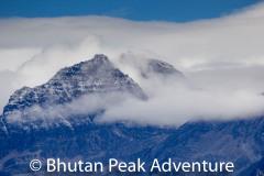 Jichi Drake Mountain.  You can get a nice view of this in the Laya-Gasa trek.