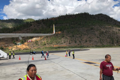 Tarmac of Paro airport