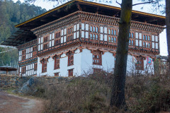 Typical farmhouse in Phobjikha valley