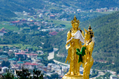 View of Thimphu from Buddha Point