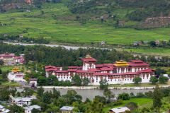 View of Punakha Dzong from Zhingkham