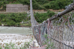 Suspension bridge near Punakha Dzong