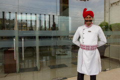 Typical doorman at one of the hotels