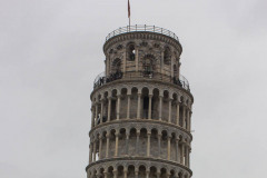 Tower of Pisa... yes it actually does lean a lot.  There was a rather large crowd here.