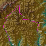 Jomolhari Trek Map