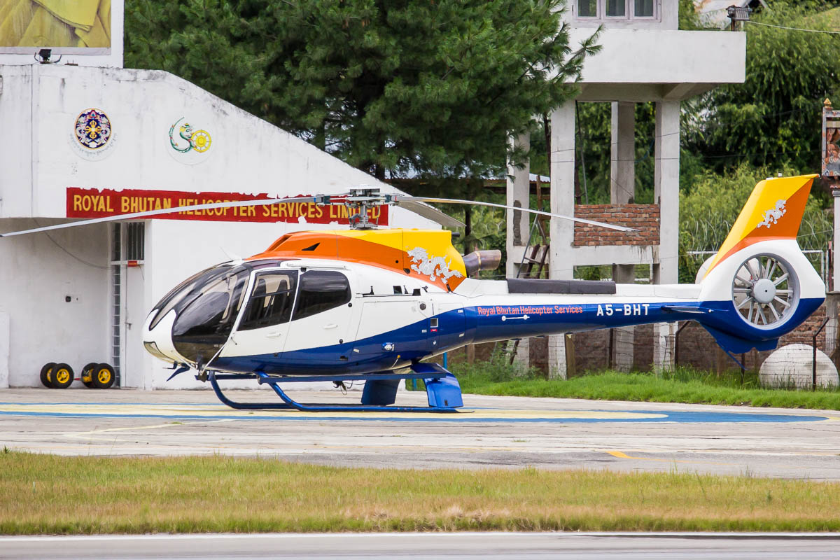 Helicopter service provided by Drukair