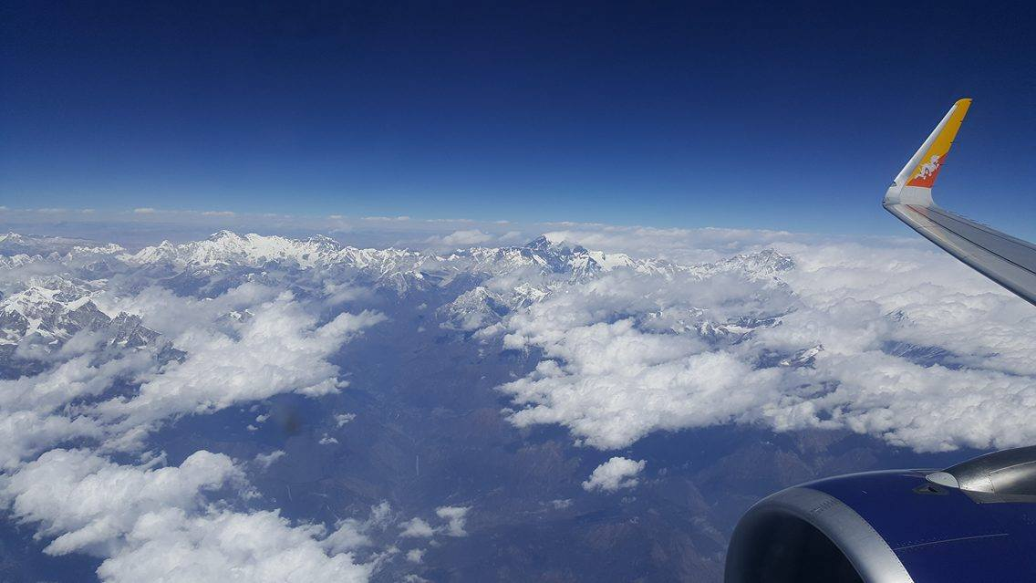 Mount Everest from Drukair Flight to Kathmandu